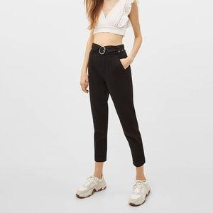 Bershka Black Paperbag Pants